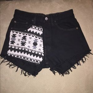 Levis high waisted shorts
